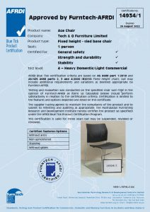 AFRDI report of ACE-05C stacking chair