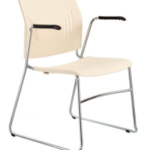 ACE-05A-guest chair with arms-ivory