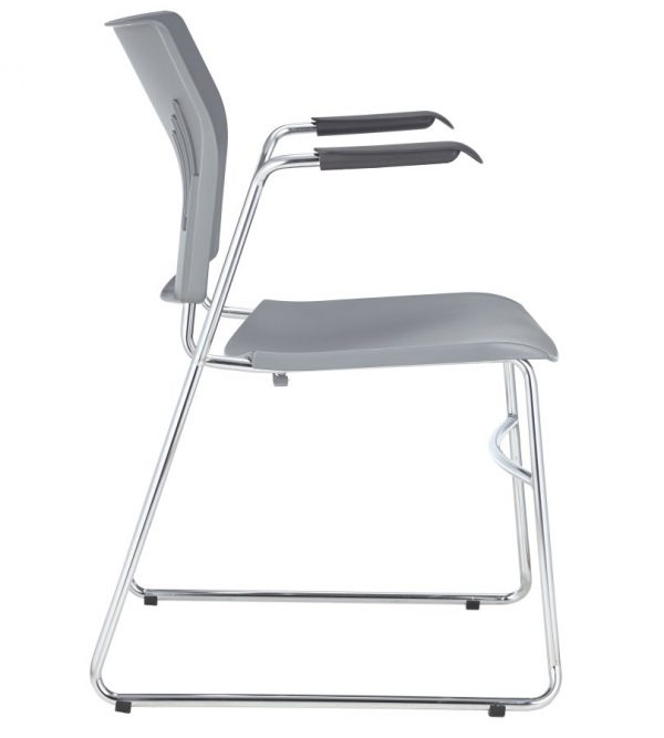 ACE-05A-guest chair with arms-light grey