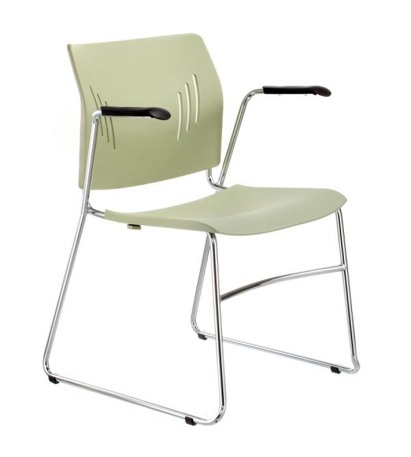 ACE-05A-Guest Chair with Armrest-olive-green