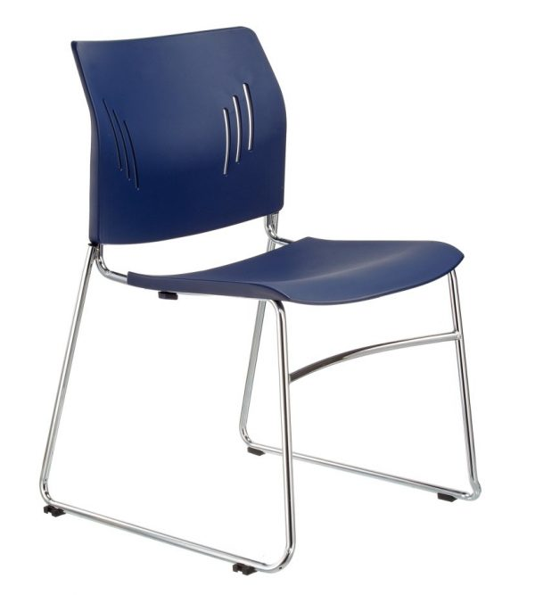 ACE-05C stacking guest chair-dark blue