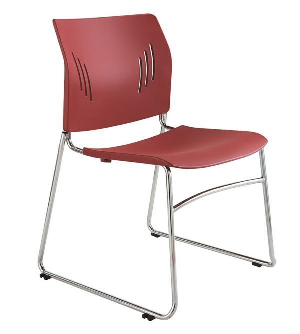 ACE-05C-stacking guest chair-red
