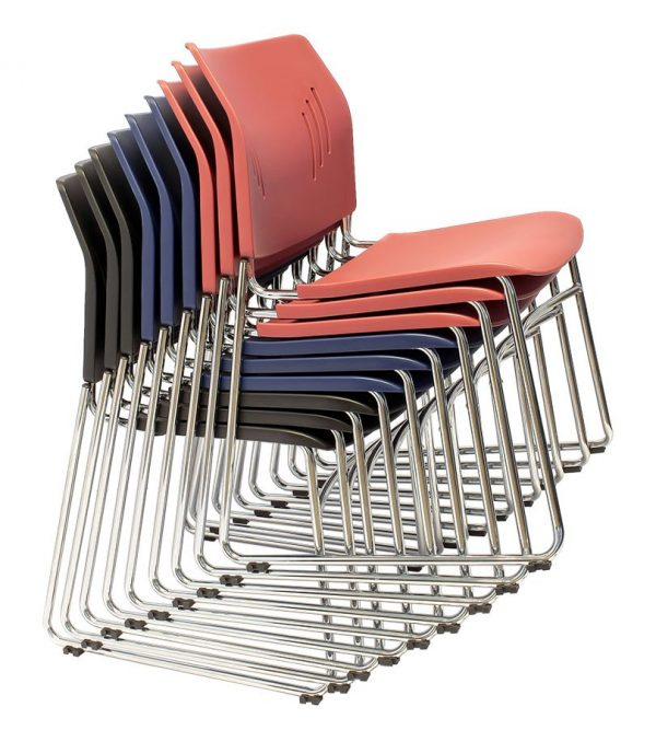 ACE-05C guest chair stacking on the ground