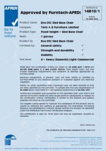 AFRDI report of EVA-05C stacking chair