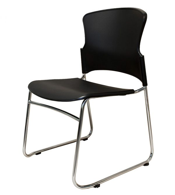 EVA-05C-stacking guest chair-black