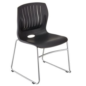 TEC-05C-stacking guest chair-black