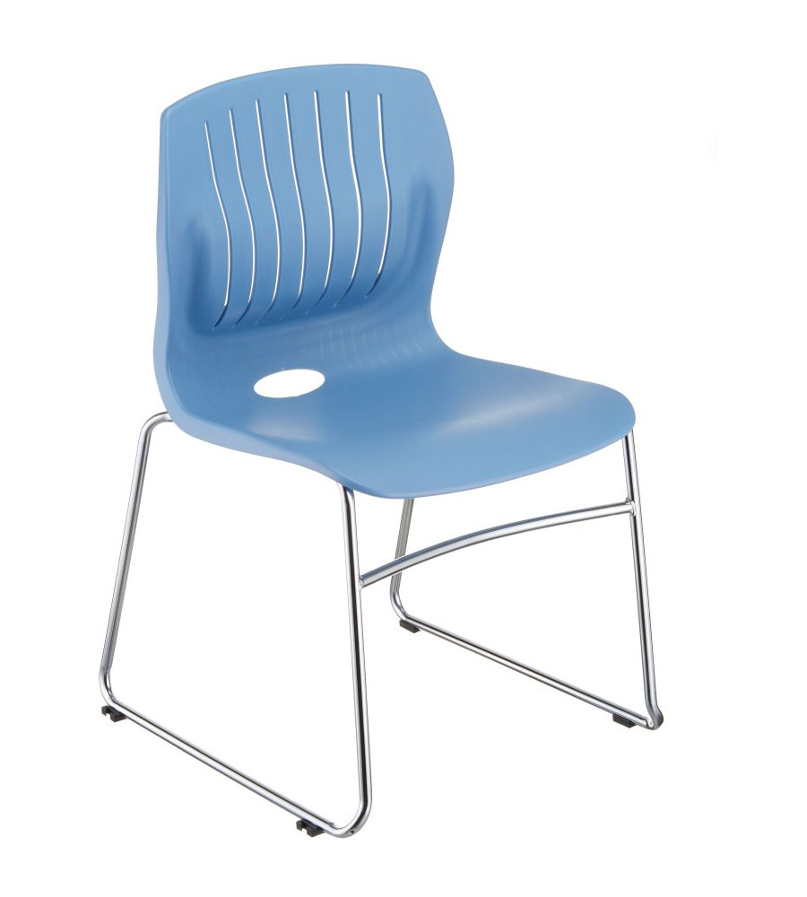 TEC-05C stacking guest chair, color: light blue