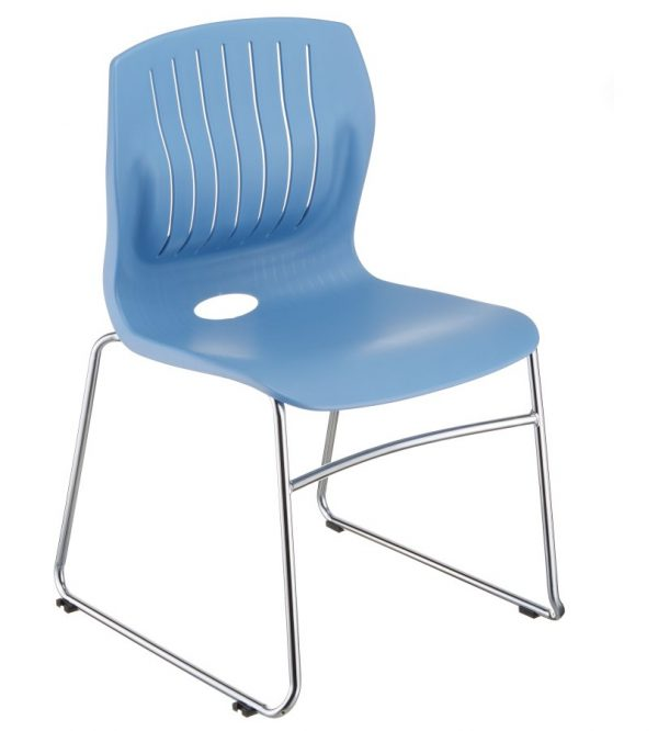 TEC-05C stacking guest chair-light blue