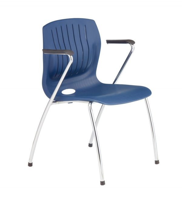 TEC-06CA-side chair with arms-dark blue